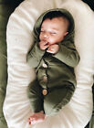 FixedPriceusstock winter infant baby boy girl cotton hooded romper jumpsuit clothes outfit