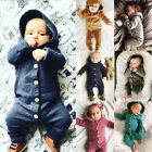 Kyпить USStock Winter Infant Baby Boy Girl Cotton Hooded Romper Jumpsuit Clothes Outfit на еВаy.соm