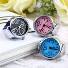 Unique Fashion Steel Round Elastic Quartz Finger Ring Watch Lady Girl Gift YK image