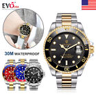Tevise Luxury Brand Men Automatic Date Stainless Steel Quartz Wrist Watch