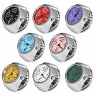 Women Men's Finger Rings Watch Quartz Analog Bracelet Silver Small Watches Gift image