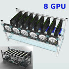 12/8/6 GPU Mining Rig Aluminum Case Stackable Open Air Frame