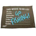 Fishing Funny Microfiber Hand Towel - This Weeks To Do List Go