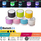 WIRELESS LED LIGHT PORTABLE BLUETOOTH LOUD STEREO SPEAKER USB AUX TRAVEL POCKET