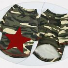 Spring Summer Dog Shirt Camouflage Cotton Pullover Shirt Pet Dog Clothes