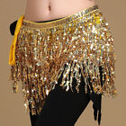 Kyпить Lady Girl Dancer Chiffon Skirt Sequin Tassel Wrap Belt Belly Dance Hip Scarf на еВаy.соm