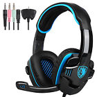SADES Gaming Headset PS4 Xbox One Headphone PC Earphone 3.5mm Stereo Sound w Mic