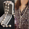 10-11 mm  natural  south sea white pearl necklae 28 inch