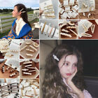 Women Flower Pearl Hair Clip Barrette Stick Clamp Hairpin Bobby Pin Accessories