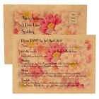 Personalised Wedding Vintage RSVP/Menu Cards + Return Envelopes - FREE P+P