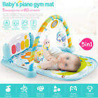 5-in-1 Baby Gym Floor Play Mat Musical Activity Center Kick And Play Piano Toy