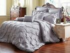 8 Piece Reversible Pinch Pleat Comforter Set Fade Resistant, Wrinkle Free image