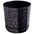 Plastic Plant Pot Indoor Flower Small Large Saucer Gloss Metallic Decorative