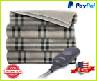 "Electric Throw Blanket Heated Fleece Warming Blankets ASSORTED Colors 60"" x 50"" image"