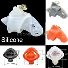 NEW 3D Silicone Lock Male rings Penis Chastity Device Bird Lock Cage Spikes