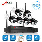 ANRAN 1080P 8CH Wireless Camera System Outdoor Home Security with 4TB Hard Drive