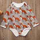US Newborn Infant Toddler Baby Boy Girl Romper Bodysuit Jumpsuit Clothes Outfits