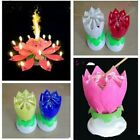 Magical Lotus Flower Musical Birthday Candle Party Decoration Colorful Romantic