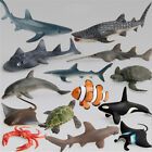 Ocean Sealife Animals Whale Turtle Shark Model Kids Educational Gift Toy new~