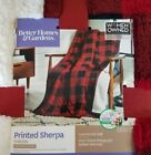 "BETTER HOMES & GARDENS BUFFALO PLAID PLUSH SHERPA THROW BLANKET 50"" X 60"" image"