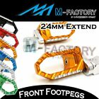 CNC 24mm Extension Rider Touring Foot Pegs Fit Triumph Speed Triple 955i $58.6 USD on eBay