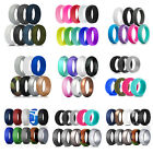 Mens Womens Silicone Wedding Band Set Engagement Ring Outdoor Sport Jewelry