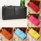 Kyпить Womens Leather Wallet Card Holder Double Dark Buckle zipper Large Capacity Purse на еВаy.соm