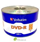 VERBATIM Blank DVD-R Logo Branded 4.7GB 16X Media Disc / LOT = 50 TO 1800 Discs