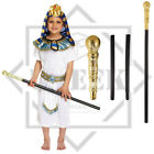 Boys Fancy Dress Costume White Egyptian Pharaoh Outfit Kids School Book Week