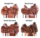 Wade Saddle 16 17 in Cowboy Roping Ranch Leather Western Horse Tack Set