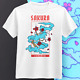 Cherry Blossom T-Shirt - Gift for Men & Women - Cute Anime Japanese Sakura Tee