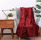 Better Homes & Gardens Warm Crushed Velvet Quilted 50 x 60 Throw Blanket NEW image