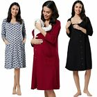 Happy Mama. Women's Maternity Labor Delivery Hospital Gown Breastfeeding.637p