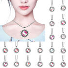 Cute Hello Kitty Pattern Time Gem Pendent Necklace Chain Fashion Women Jewelry