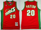 New Men's Seattle Supersonics #20 Gary Payton Basketball Jersey Retro Red on eBay