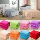 SMALL THROW SOLID OR PRINTED SOFT BLANKET MICROPLUSH COMFORT FLEECE SUPER WARM image