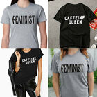 Funny Caffeine-Queen Feminine Letter Men Women T-shirts Tops Tee Fashion-Hot