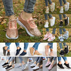 Womens Sequin Glitter Sneakers Tennis Lightweight Comfort Walking Athletic Shoes