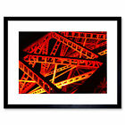 Industrial Archietecture Abstact red Art Print Framed Poster Wall Decor