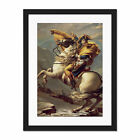 Napoleon+Crossing+The+Alps+Large+Framed+Art+Print+Wall+Poster