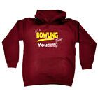 Funny Kids Childrens Hoodie Hoody - Its A Bowling Bowels Thing V1