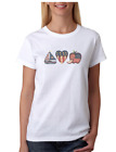 Decorative Country T-shirt American flag boat apple heart