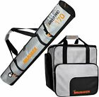 BRUBAKER Ski Bag Combo Tec Pro - Boot Bag and Ski Bag - Silver/Orange