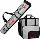 BRUBAKER Ski Bag Combo Tec Pro - Boot Bag and Ski Bag - Silver/Red