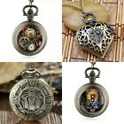 NEW POCKET WATCH CHAIN STEAMPUNK MECHANICAL STYLE SKELETON RETRO WATCHES UNISEX image