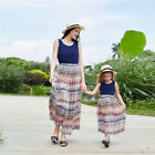 Mothers and Daughter Boho Dress Matching Womens Kid Girls Casual Family Clothes