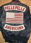 "Pelle Pelle Patriotic Leather Jacket 21405 ""Americana"" Bedazzled New with Tags!"