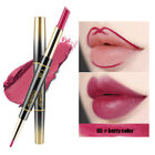 Women Double-end Matte Lipstick Lip Liner Pencil Make Up Cosmetics Beauty Gift