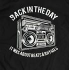 BACK IN THE DAY BOOMBOX OLDSKOOL ART* Mens Shirt *MANY OPTIONS*