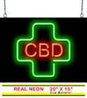 CBD Medical Cross Neon Sign | Jantec | 2 Sizes | Vape | CBD | Juice | Medical